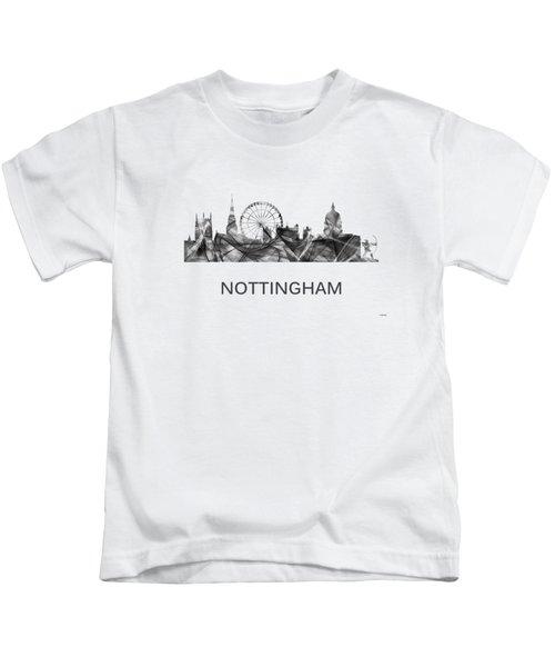 Nottingham England Skyline Kids T-Shirt