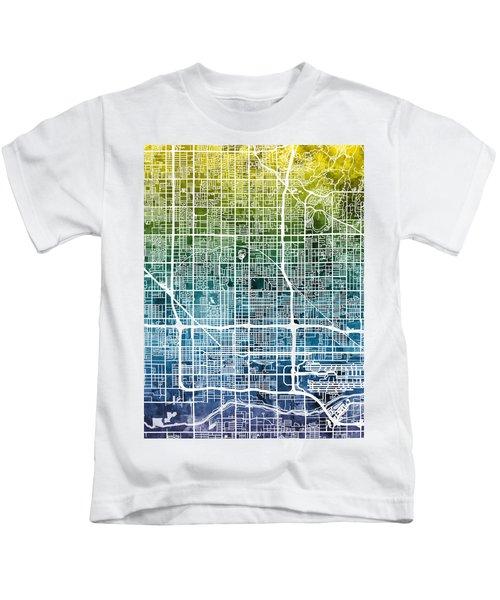 Phoenix Arizona City Map Kids T-Shirt