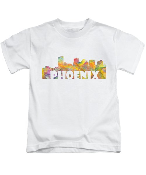 Phoenix Arizona Skyline Kids T-Shirt