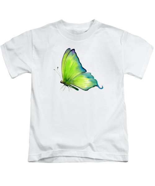 4 Skip Green Butterfly Kids T-Shirt