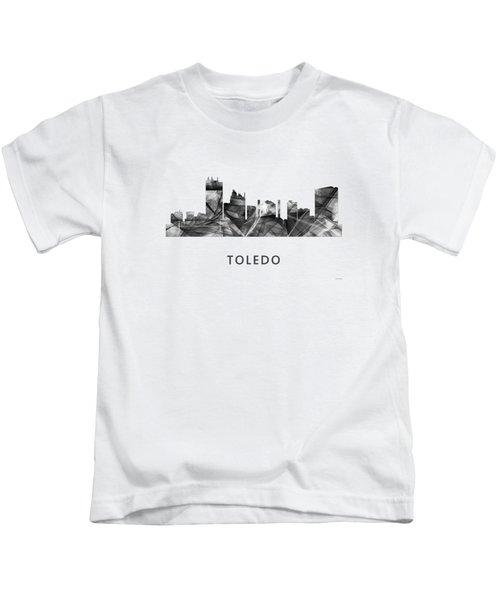 Toledo Ohio Skyline Kids T-Shirt by Marlene Watson