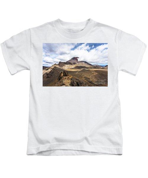 Tongariro Alpine Crossing In New Zealand Kids T-Shirt