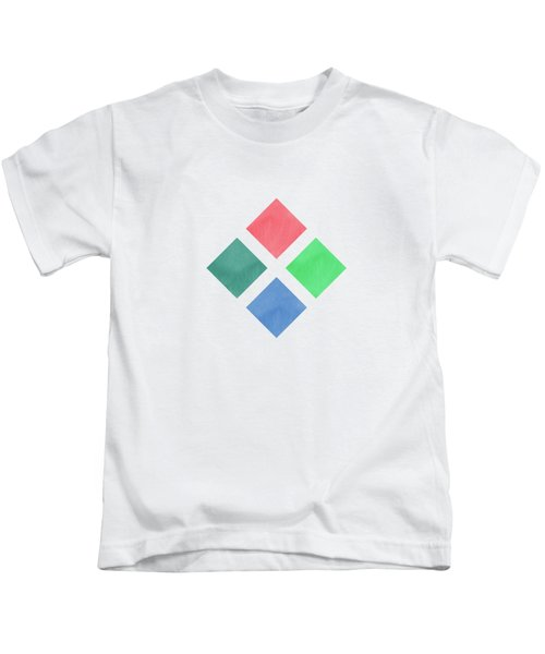 Watercolor Geometric Background Kids T-Shirt