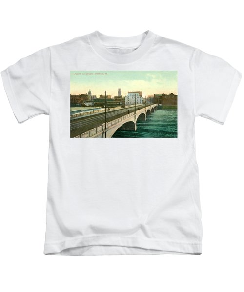 4th Street Bridge Waterloo Iowa Kids T-Shirt
