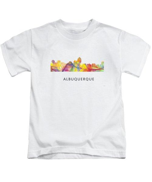 Albuquerque New Mexico Skyline Kids T-Shirt