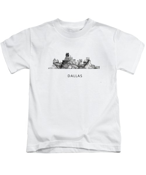 Dallas Texas Skyline Kids T-Shirt by Marlene Watson