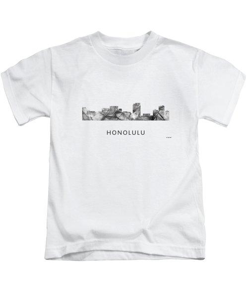 Honolulu Hawaii Skyline Kids T-Shirt