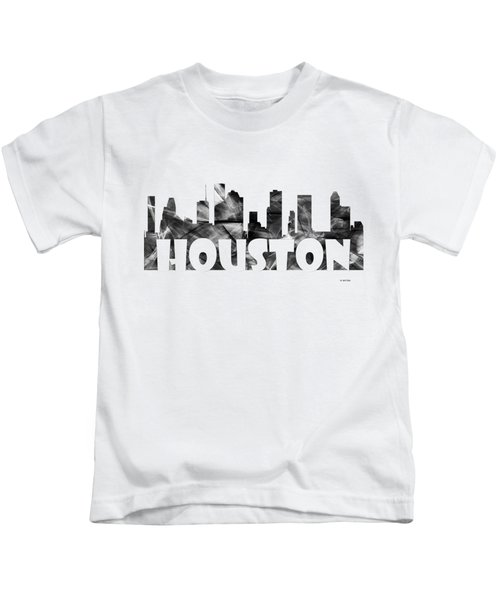 Houston Texas Skyline Kids T-Shirt