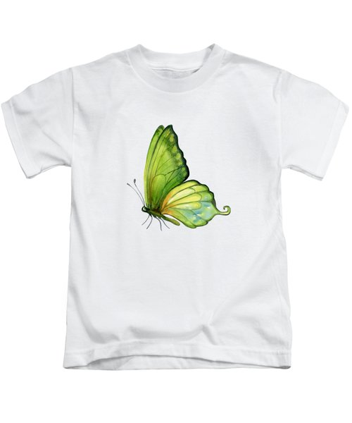 5 Sap Green Butterfly Kids T-Shirt by Amy Kirkpatrick