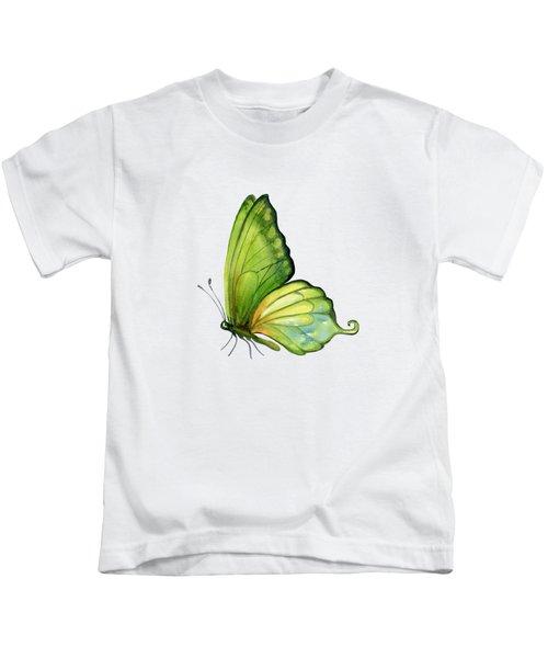 5 Sap Green Butterfly Kids T-Shirt