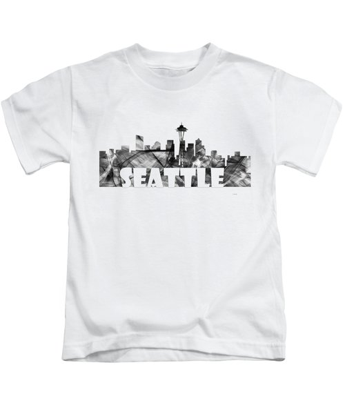 Seattle Washington Skyline Kids T-Shirt
