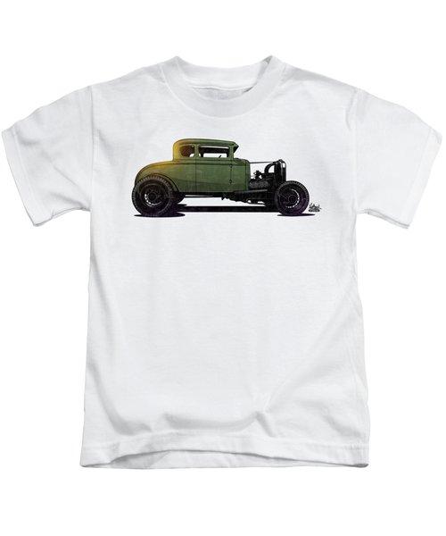 5 Window Hot Rod Kids T-Shirt