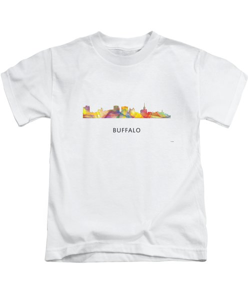 Buffalo New York Skyline Kids T-Shirt