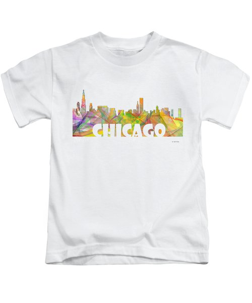 Chicago Illinois Skyline Kids T-Shirt