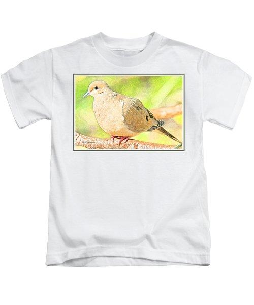 Mourning Dove Animal Portrait Kids T-Shirt