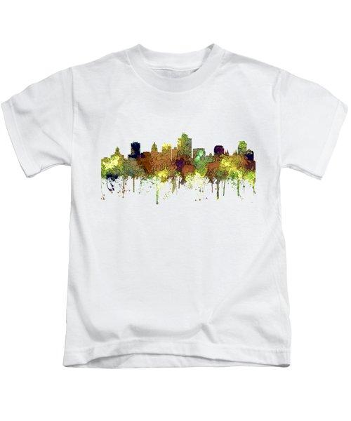 Salt Lake City Utah Skyline Kids T-Shirt
