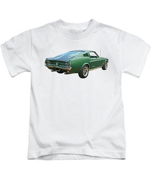 67 Mustang Fastback Kids T-Shirt