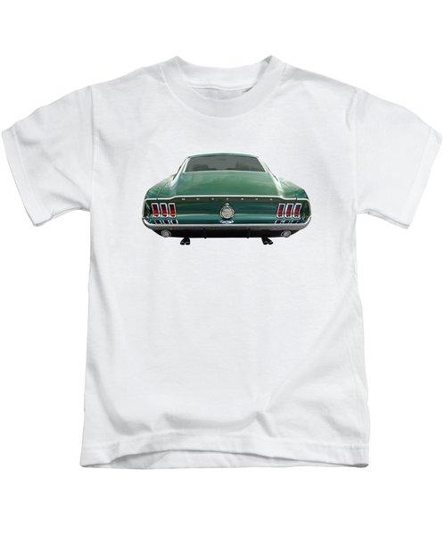 67 Mustang Fastback Rear Kids T-Shirt