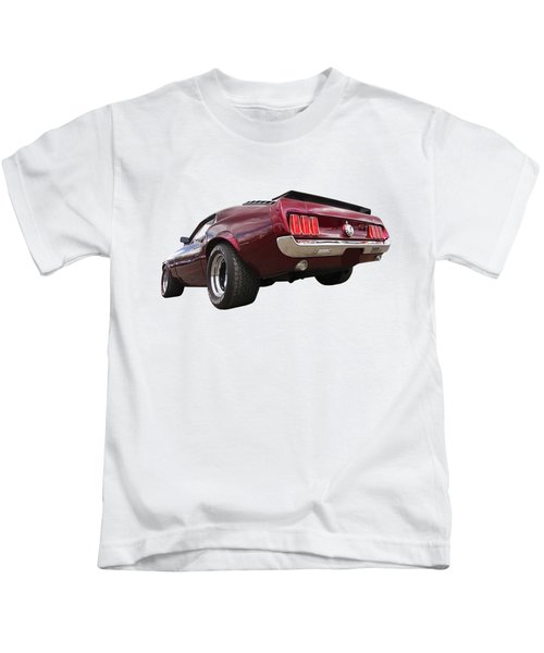 '69 Mustang Rear Kids T-Shirt
