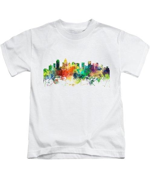 Charlotte Nc Skyline Kids T-Shirt by Marlene Watson