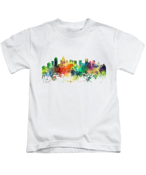 Charlotte Nc Skyline Kids T-Shirt