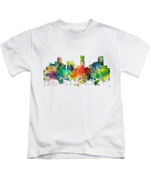 Denver Colorado Skyline Kids T-Shirt