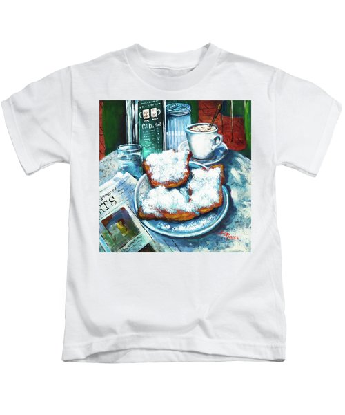 A Beignet Morning Kids T-Shirt