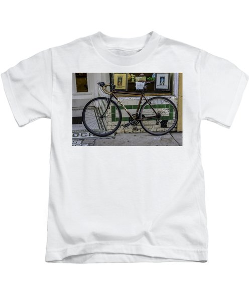 A Bicycle In The French Quarter, New Orleans, Louisiana Kids T-Shirt