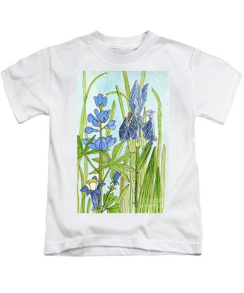 A Blue Garden Kids T-Shirt