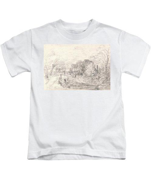 A Bridge Near Salisbury Court Perhaps Milford Bridge Kids T-Shirt