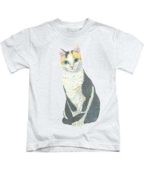 A Calico Cat Kids T-Shirt
