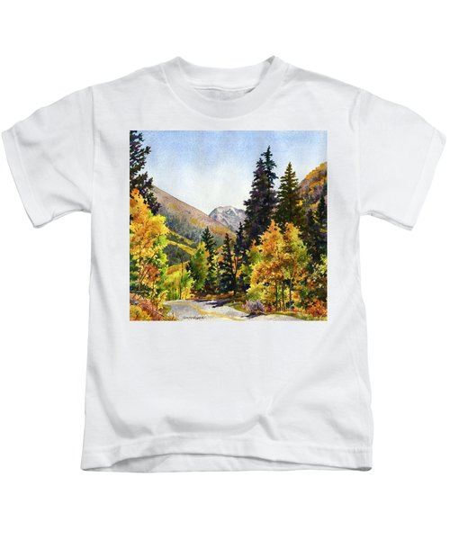 A Drive In The Mountains Kids T-Shirt