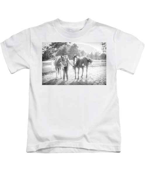 A Girl With Horses Kids T-Shirt