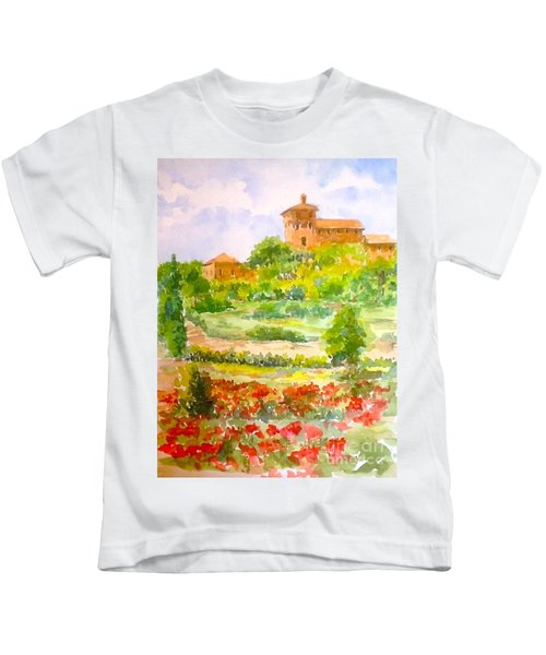 A Hillside Near San Gimignano Kids T-Shirt