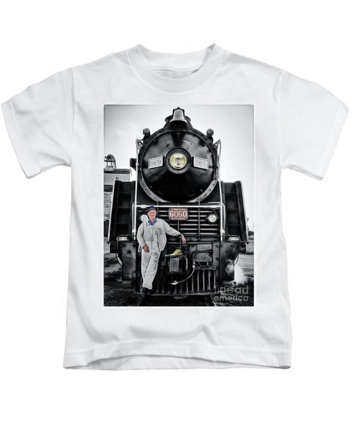 A Man And His Locomotive Kids T-Shirt