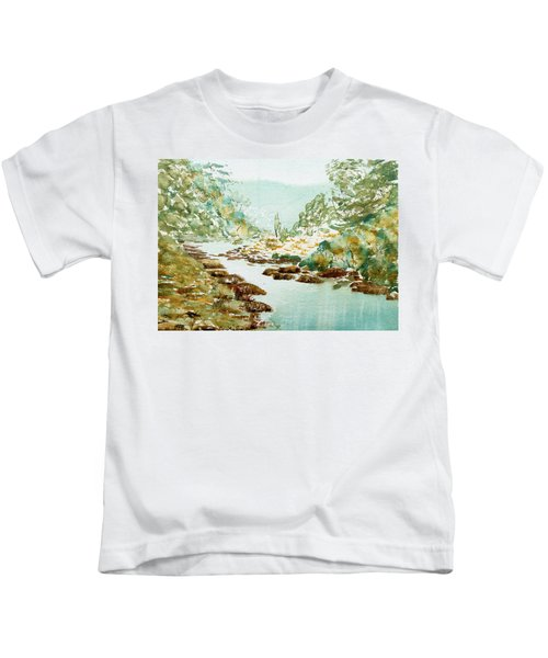 A Quiet Stream In Tasmania Kids T-Shirt