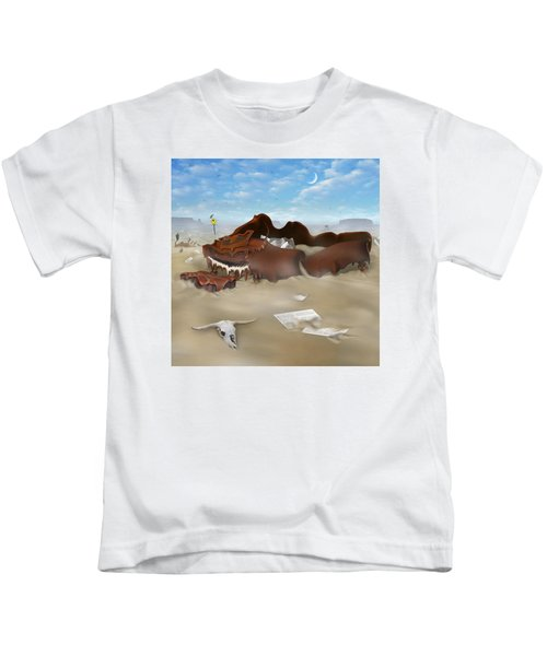 A Slow Death In Piano Valley Sq Kids T-Shirt by Mike McGlothlen