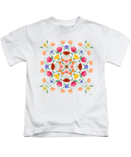 A Symphony Of Dancing Floral Delights Kids T-Shirt