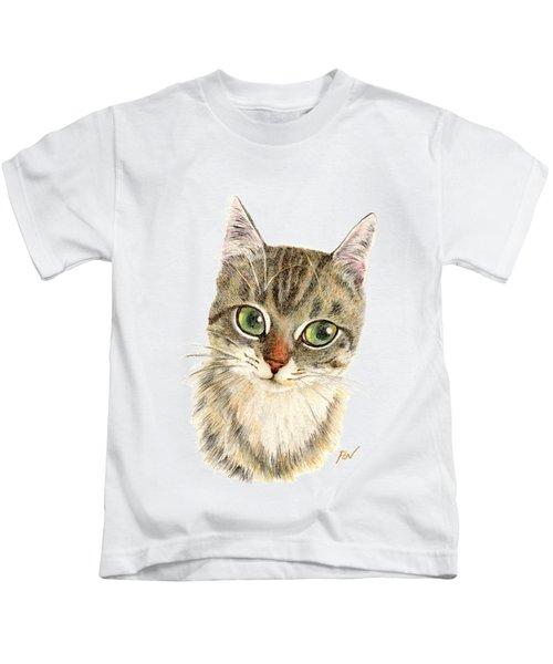 A Thinking Cat Kids T-Shirt