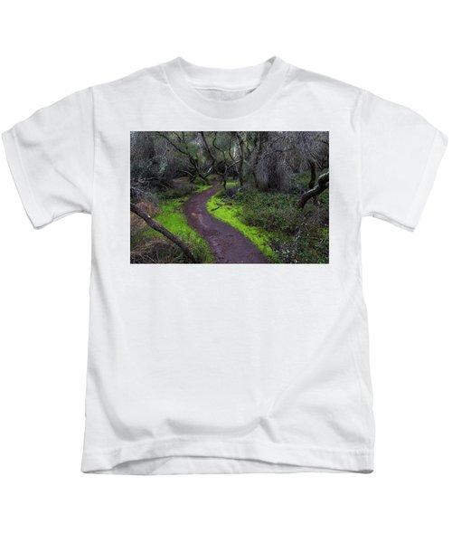 A Windy Path Kids T-Shirt