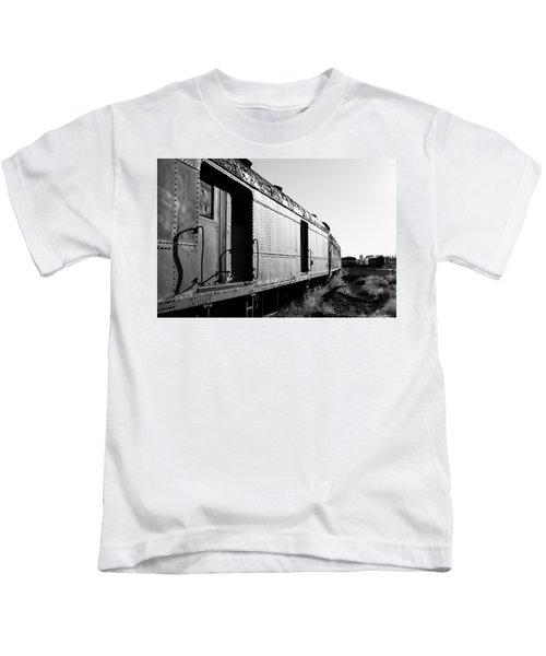 Abandoned Train Cars Kids T-Shirt