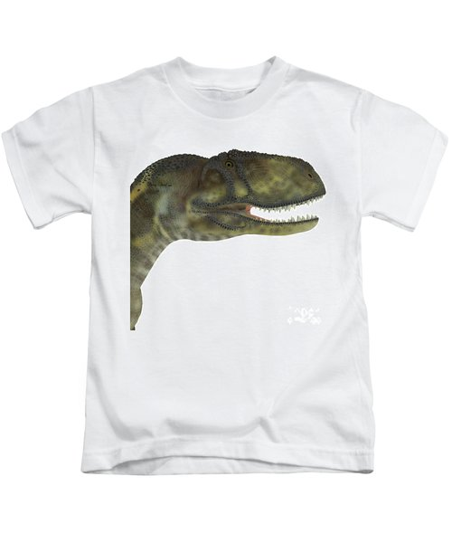 Abelisaurus Dinosaur Head Kids T-Shirt