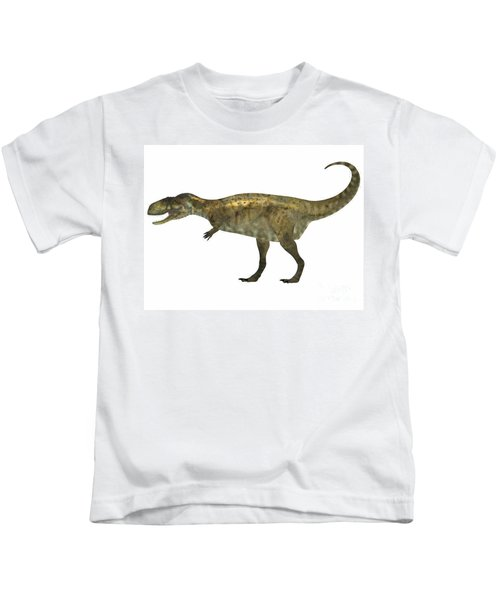 Abelisaurus Side Profile Kids T-Shirt