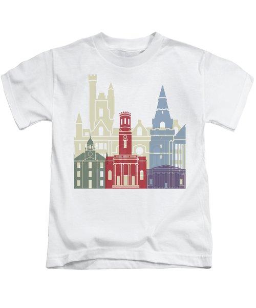 Aberdeen Skyline Poster Kids T-Shirt