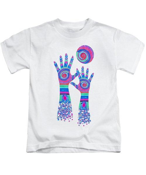 Aboriginal Hands Pastel Transparent Background Kids T-Shirt