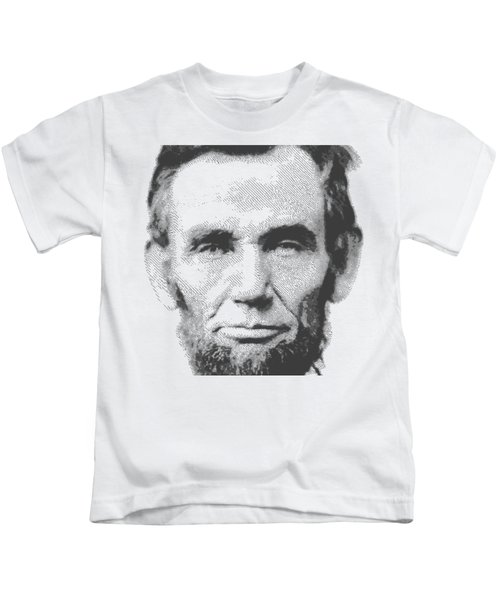 Abraham Lincoln - Parallel Hatching Kids T-Shirt