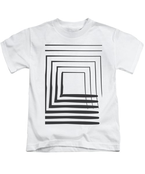 Abstract Art Perspective - Square Kids T-Shirt