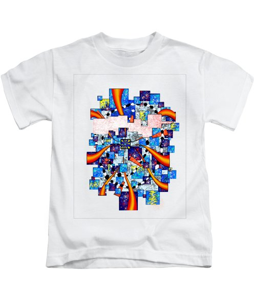 Abstract Digital Art - Deselia V2 Kids T-Shirt