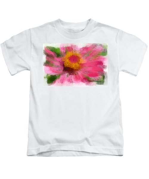 Abstract Flower Expressions Kids T-Shirt