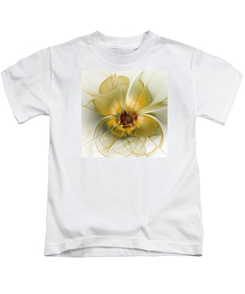 Abstract Flower With Silky Elegance Kids T-Shirt